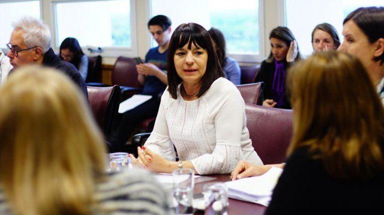 La diputada María Laura Du Plessis (MPN) durante el debate en la comisión de Desarrollo Humano y Social.