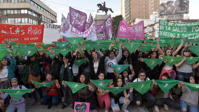 Marcharon en el centro por el aborto legal, seguro y gratuito