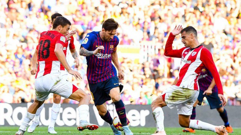 Messi salvó al Barcelona de una derrota ante Athletic Bilbao