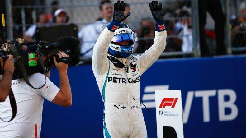Sorpresa en Rusia: Bottas se quedó con la pole en la Fórmula Uno