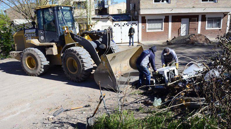 La Muni hizo una limpieza récord en las calles de Ceferino