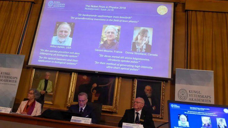 El Nobel de Física fue para tres investigadores por avances en láser