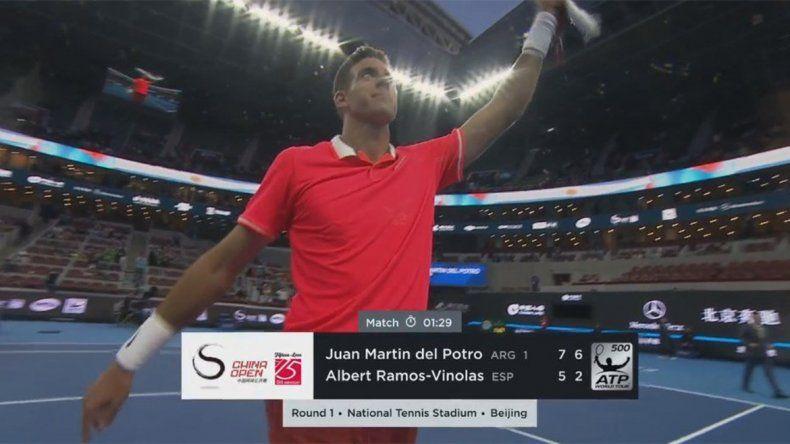 Buen regreso de Delpo a las canchas en el ATP 500 de Beijing
