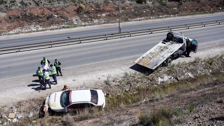 Tres heridos tras un vuelco en Ruta 7