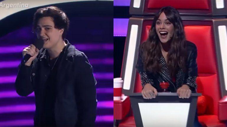 Talento y emoción: este es el participante de La Voz Argentina quedesató los gritos a Tini Stoessel