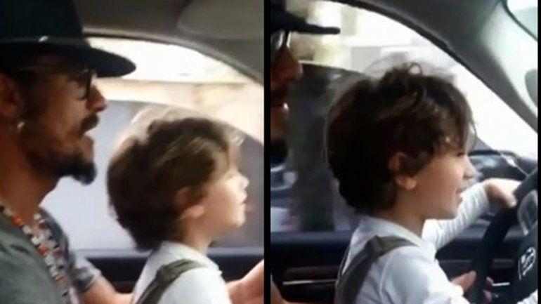 Daniel Osvaldo dejó manejar a su hijo Morrison y estalló la polémica