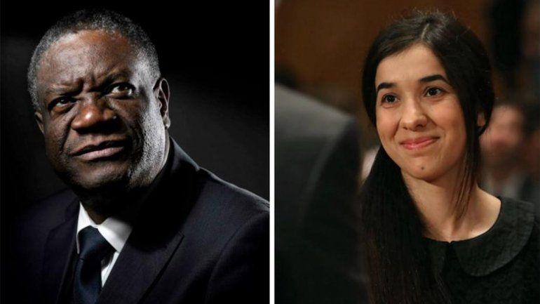 El Nobel de la Paz fue para un médico congoleño y una activista iraquí