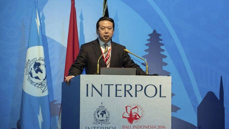 No se sabe dónde está el presidente de Interpol