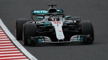 Hamilton alcanzó otra pole en el Gran Premio de Japón