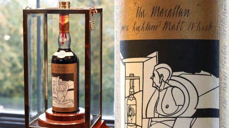 Se subastó la botella más cara de whisky de la historia por un millón de dólares