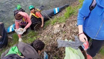 Sacan 50 kilos de residuos del Chimehuín