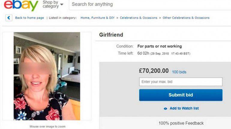 Puso a su novia en venta en eBay y fue un éxito