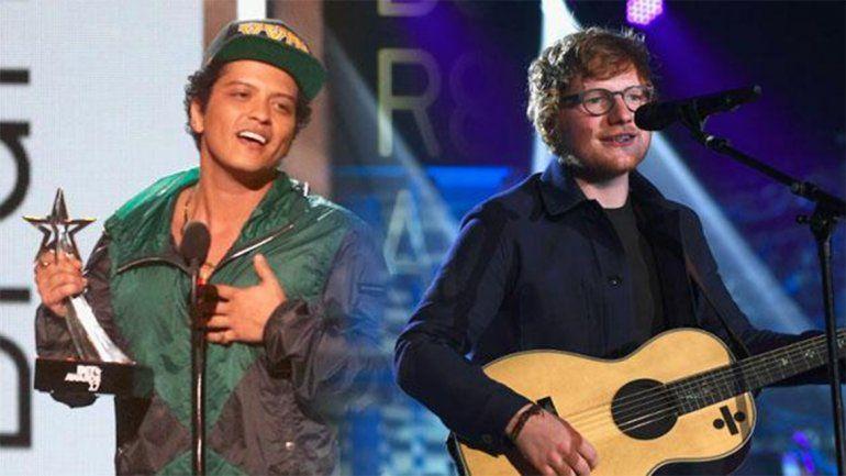 ¡Ed Sheeran le cantó el feliz cumpleaños a Bruno Mars!