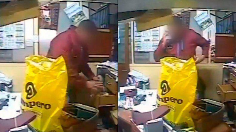Un policía fue a un local por una denuncia y terminó robando