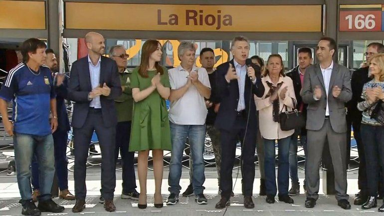 Macri estuvo junto a la gobernadora de Buenos Aires