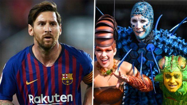 Cirque du Soleil hará un espectáculo de Lionel Messi
