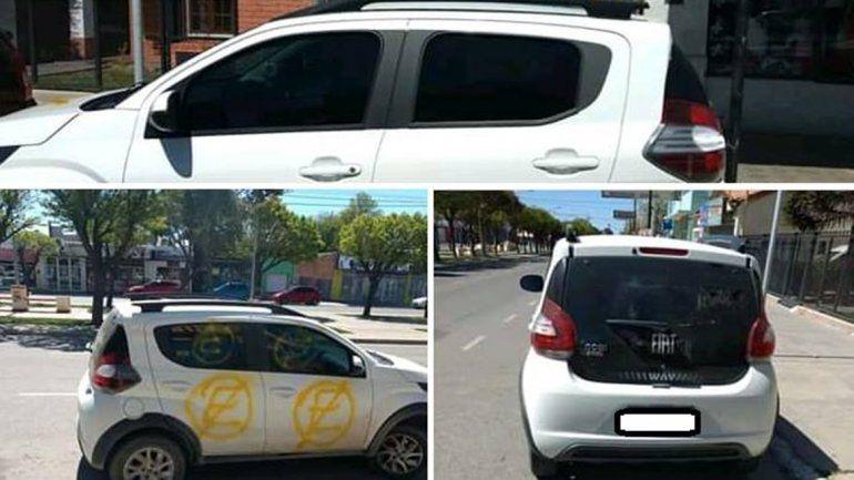<p>Ayer, también en Cutral Co, un hombre le escrachó el auto con aerosol a una mujer.</p>