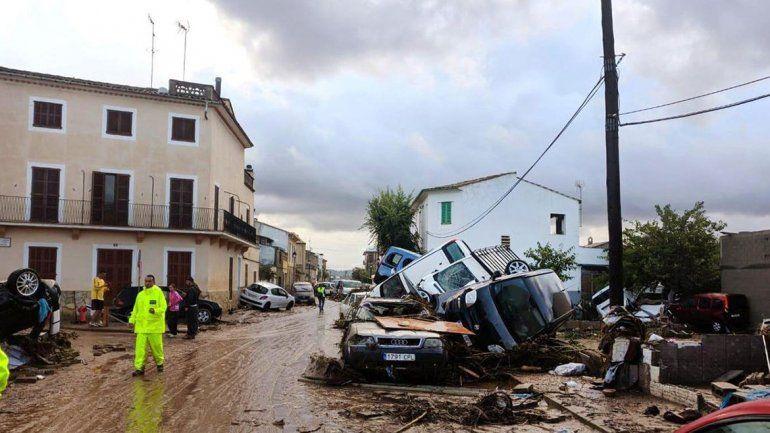 La localidad que más afectada se vio es la de Sant Llorenç des Cardassar.
