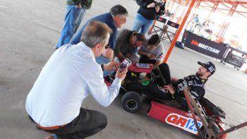 Giallombardo volvió a las pistas por primera vez tras el accidente