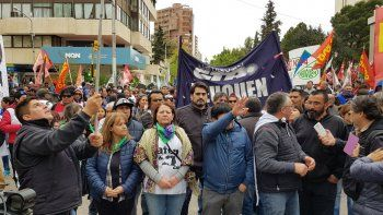sindicatos marcharon contra la reforma jubilatoria municipal