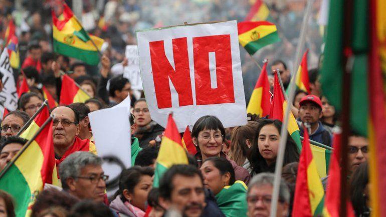 Marchas contra la reelección  de Evo Morales