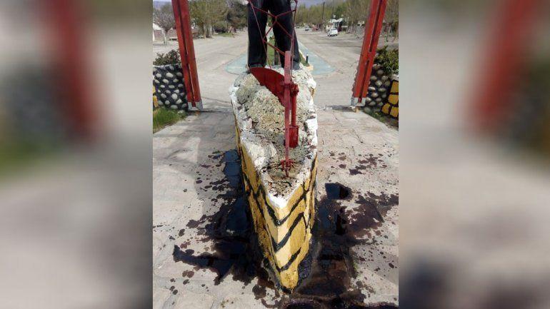 Otra vez hubo vandalismo en Bajada del Agrio