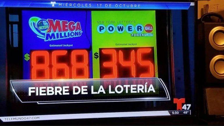 El mayor premio de una lotería: 868 millones