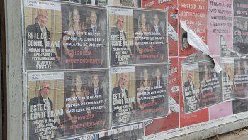 repudian afiches intimidatorios contra majul y su esposa