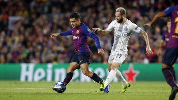 Con Messi en la tribuna, Barcelona venció 2-0 al Inter