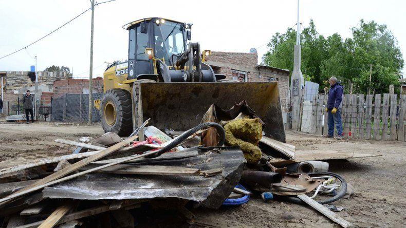 Sacaron 40 mil kilos de basura en Valentina Norte