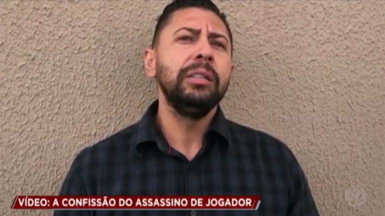 Empresario confesó en televisión el crimen del futbolista brasileño