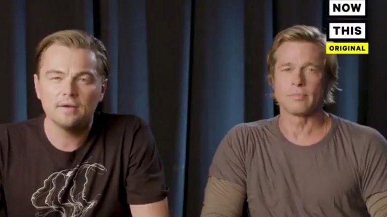 Brad Pitt y DiCaprio se sumaron a la cruzada contra Trump