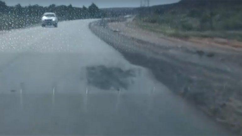 Ruta 7: denuncian que partes reasfaltadas ya tienen baches