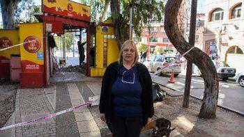 demolieron el kiosko de la diagonal 25 de mayo