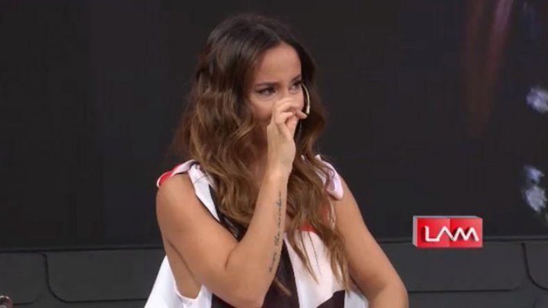 Lourdes Sánchez rompió en llanto y anunció que deja el Bailando