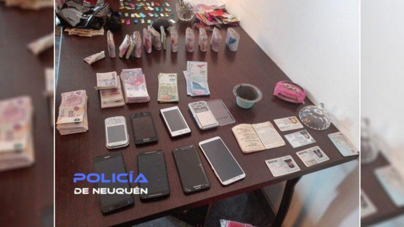 Allanaron un kiosco narco: secuestraron casi 130 mil pesos y cocaína