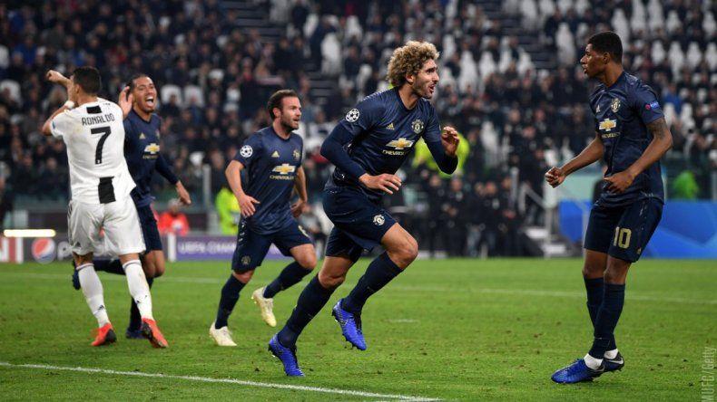 Manchester United lo dio vuelta sobre el final y le ganó a la Juventus