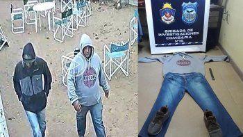 atraparon a los ladrones que robaron una canchita de futbol