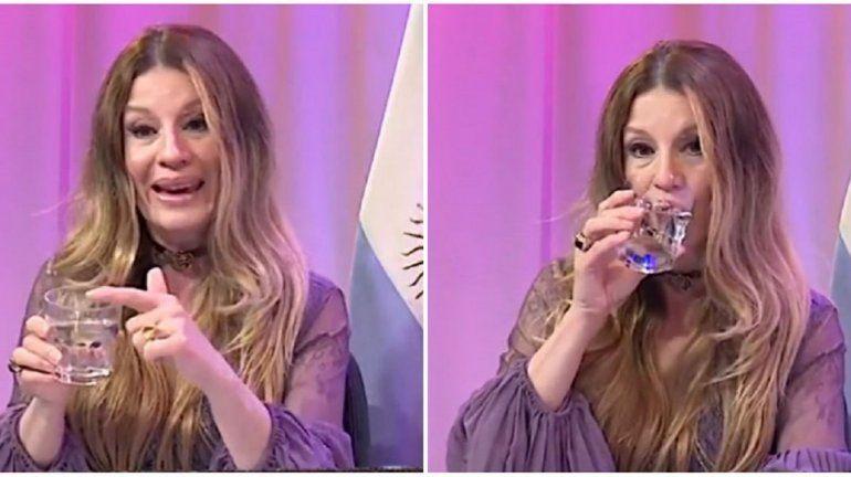 Gisela Barreto de nuevo: con un vaso de agua explicó los peligros del sexo anal