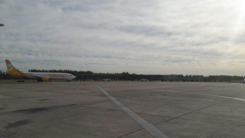 Emergencia en el aterrizaje de un avión de Flybondi en Neuquén