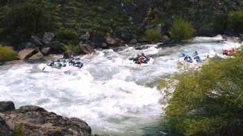 el rio alumine fue el escenario del cierre del mundial de rafting