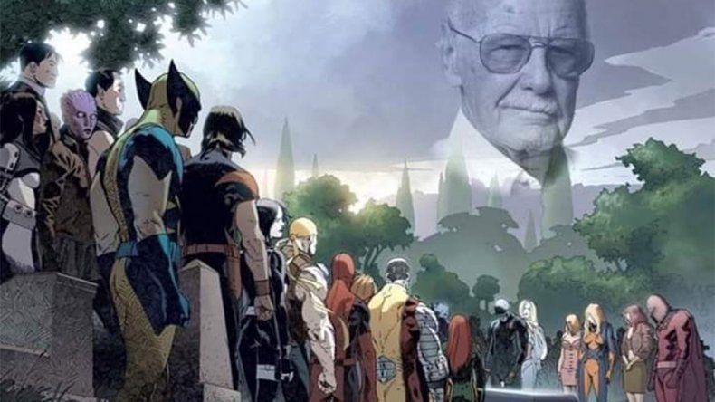 Resultado de imagen para superheroes despiden a stan lee