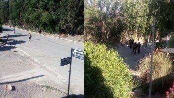 una serie de allanamientos en el barrio confluencia termino en una batalla campal