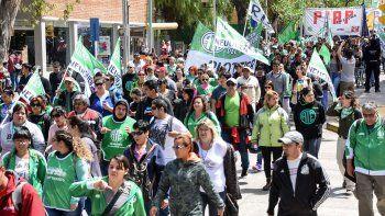 marcha contra el presupuesto nacional 2019
