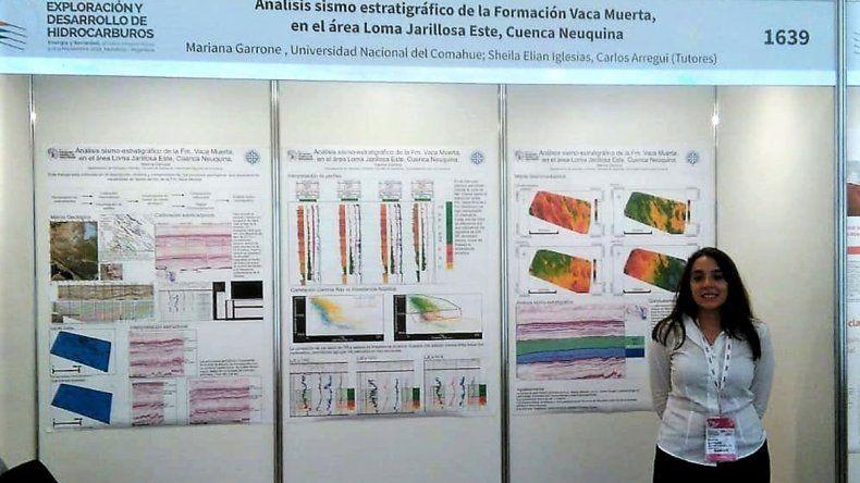 Una estudiante de la UNCo, premiada por su trabajo en geología
