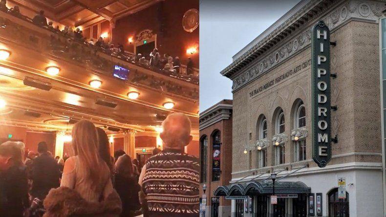 Pánico en un teatro por el grito de ¡Heil, Hitler! ¡Heil, Trump!