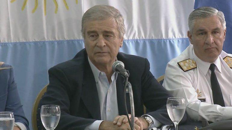Aguad: No tenemos medios para rescatar al ARA San Juan