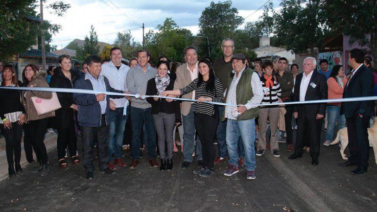 Gutiérrez inauguró obras de asfalto en Chos Malal