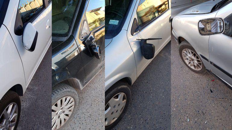 Por vandalismo, adolescentes rompieron espejos retrovisores de al  menos ocho autos