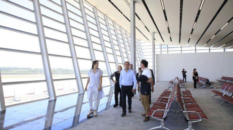 El aeropuerto inaugurará obras a principios de enero